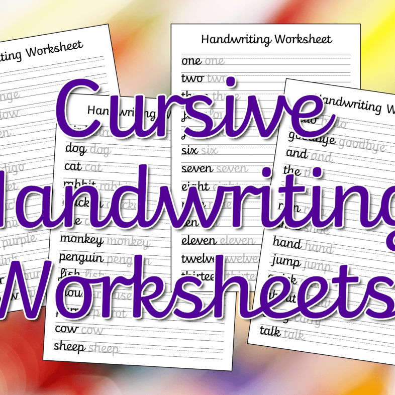 Cursive Handwriting Worksheets – Free Printable! Mama Geek
